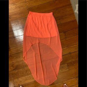 High low sheet maxi skirt